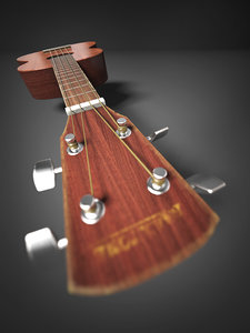 ukulele 3d max