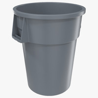 Plastic Garbage Can Generic