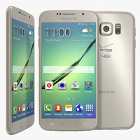 3d samsung galaxy s6 gold