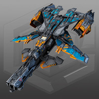 SciFi Gunship X3