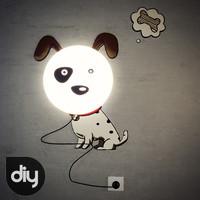 3d diy spotted dog light lamp model