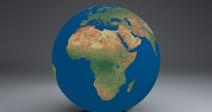 3d 16k earth globe model