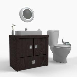 bathroom furnishing 3d max