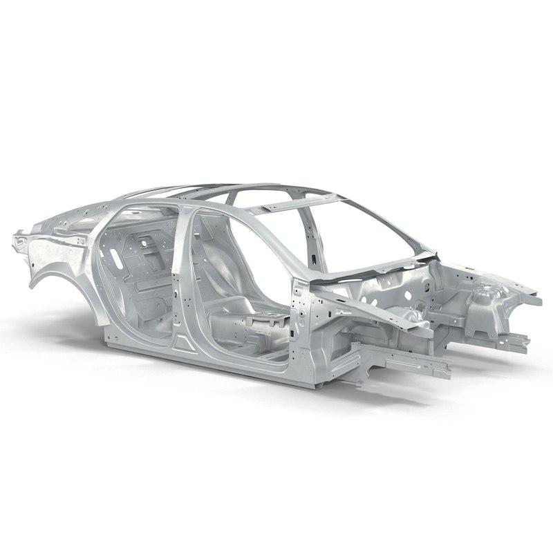 car frame 2 3d model