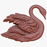 swan relief cnc 3d max