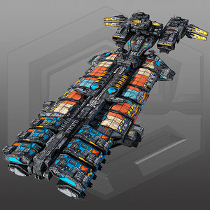 scifi cargoship g5 max