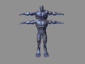 monster demon mutant 3d max