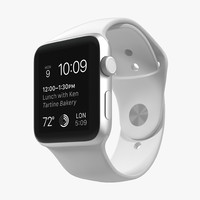 apple watch sport white 3d model