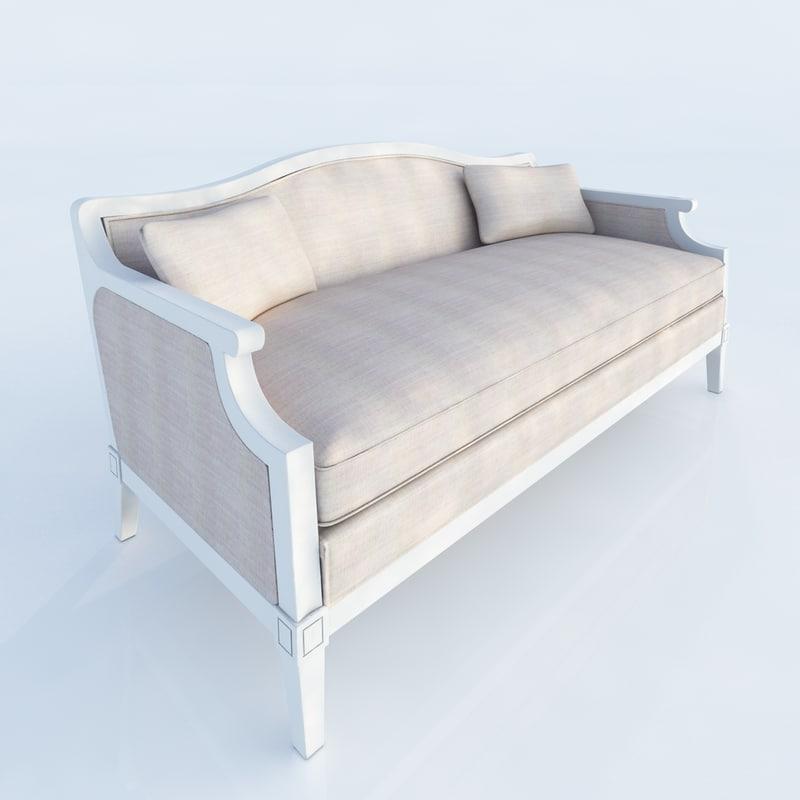3d laurent salon bench model