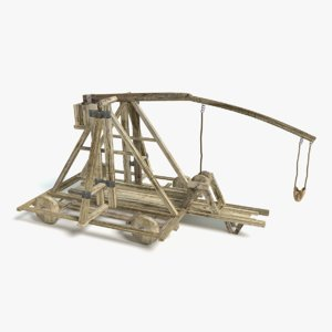 3d model large catapult