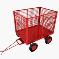 3d cage trailer 01 model