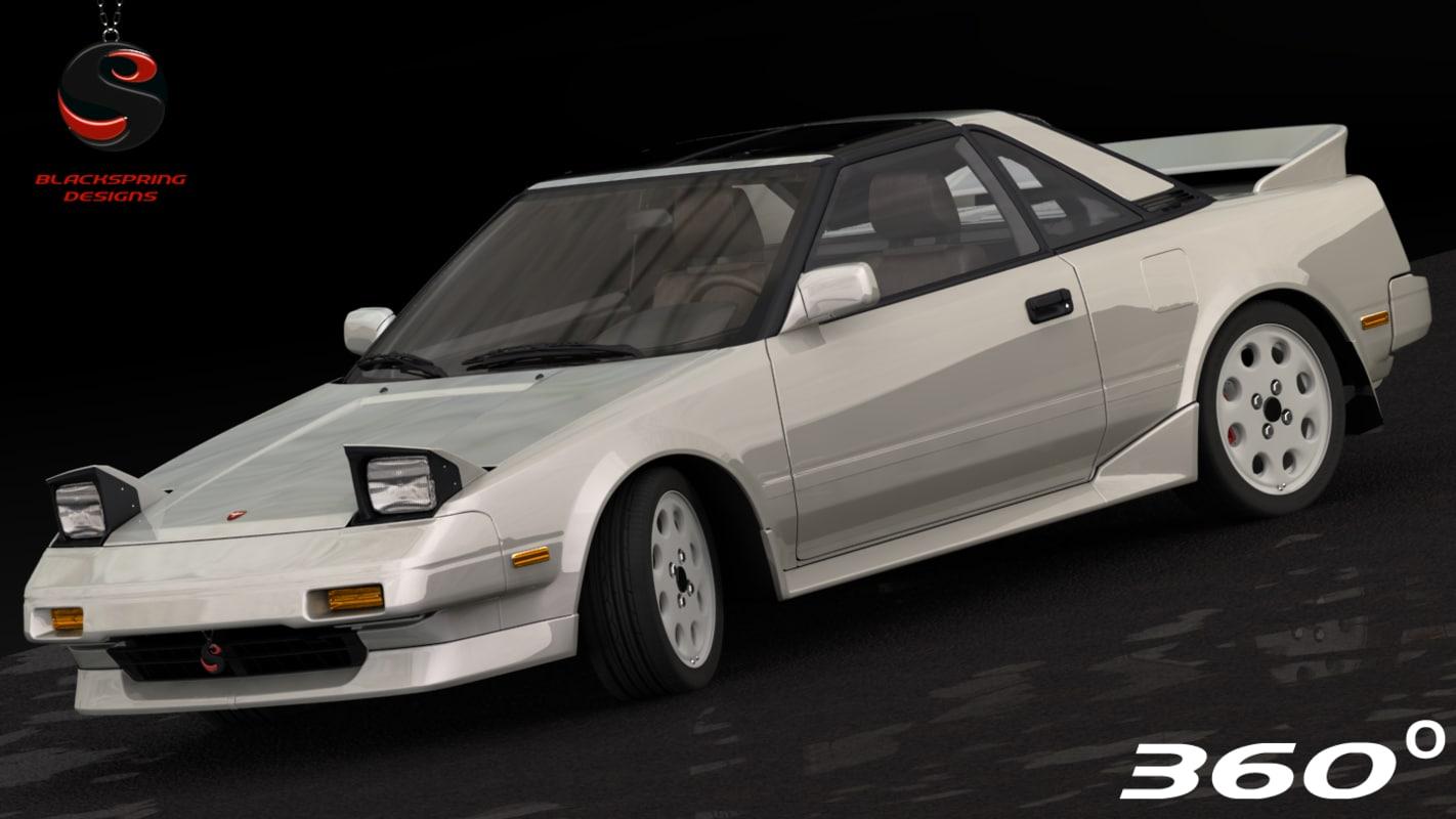 3d toyota mr2 1989 model