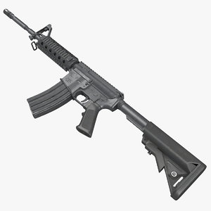 assault rifle generic 3 3d 3ds