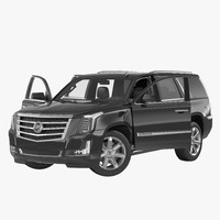 cadillac escalade 2015 rigged 3d model