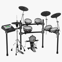 Electronic Drum Kit Generic 2 3D Model