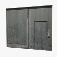 shielding gate wood 3d obj