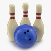 3ds bowling modeled