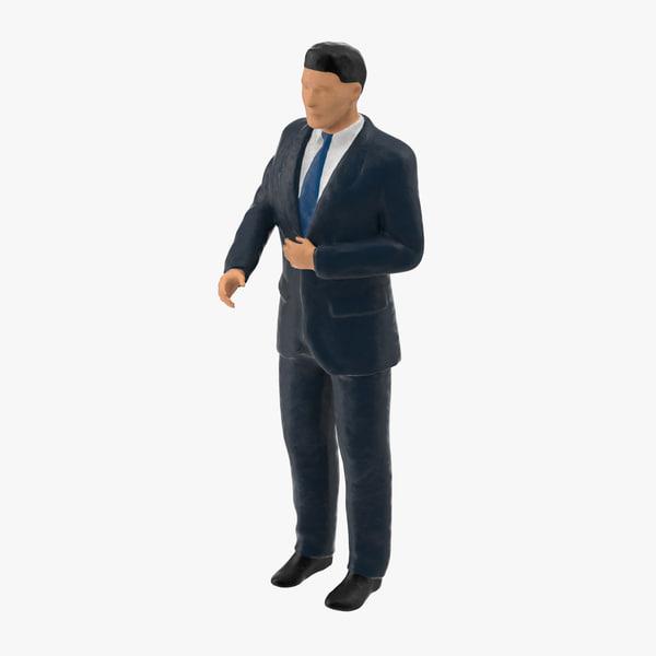 3d business man 01 model