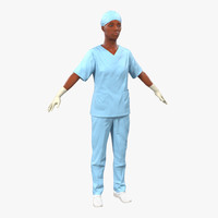 3ds female surgeon african american