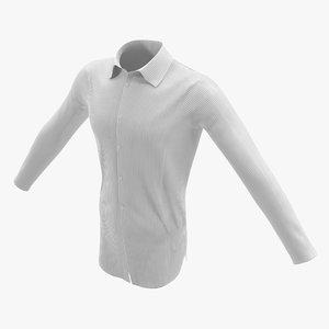 3d men formal shirt model