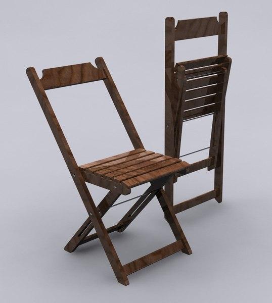 wooden folding chair cadeira max