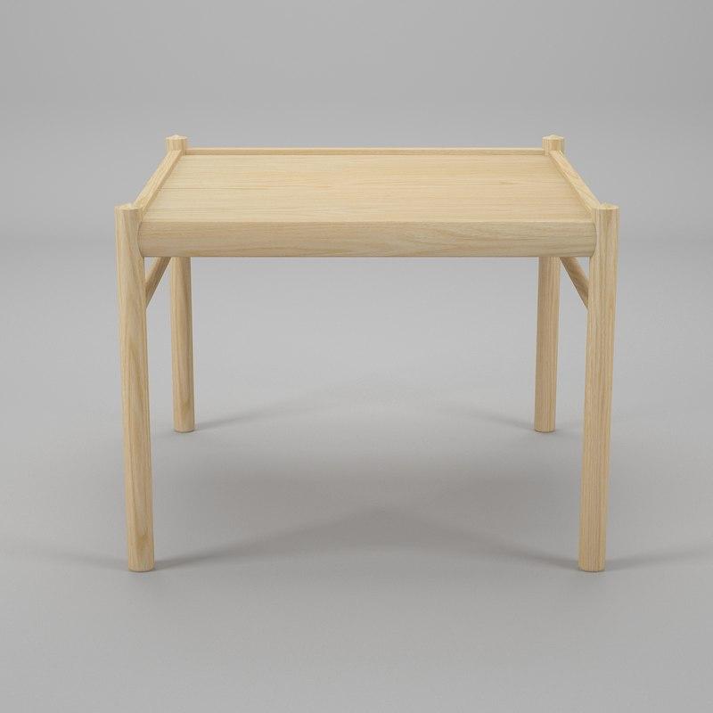 3d table ole wanscher coffee model