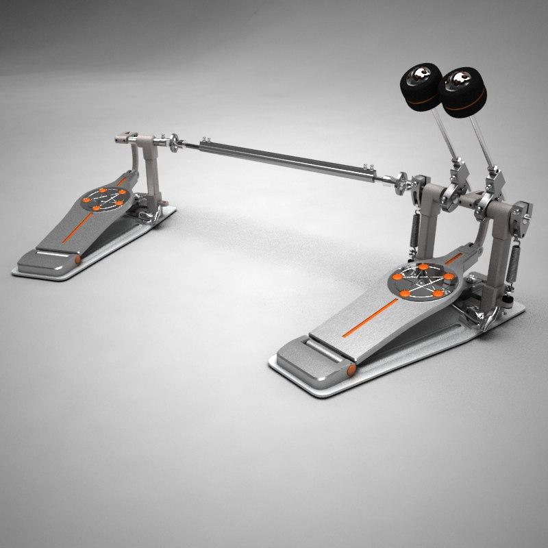 double direct drive pedals 3d model