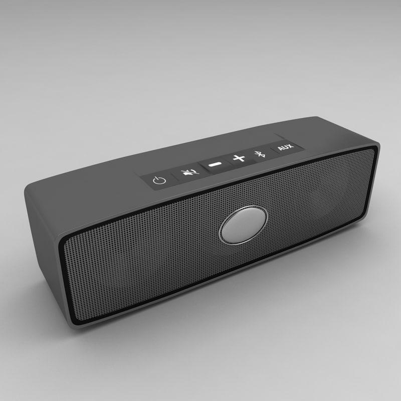 3d model portable speakers music