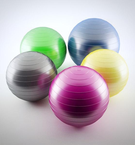 pilates ball 3d model