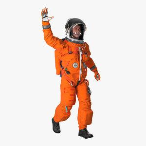 astronaut wearing advanced crew 3d model