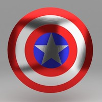 3d captain shield