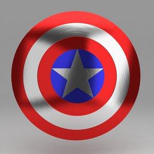 3d captain shield