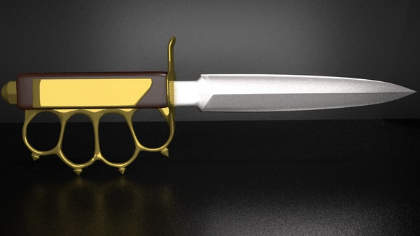 knuckle nife 3d model