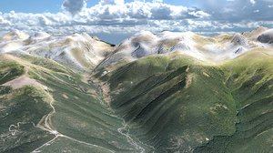 3d max pyrenees mountain landscape