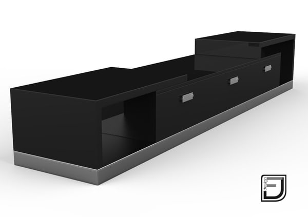 tv stand 4 3d model