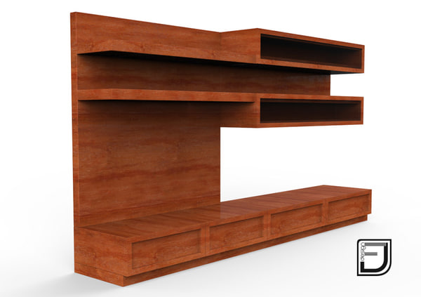 3d tv stand 7 model