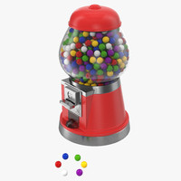 3d bubble gum dispenser