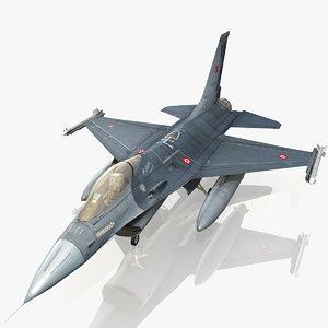 3dsmax turkish air force f-16
