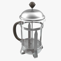 3d model french press coffee pot