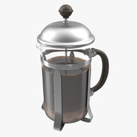 c4d french press coffee pot