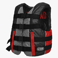 3ds life vest red