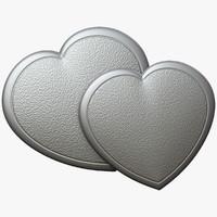 3d heart relief cnc model