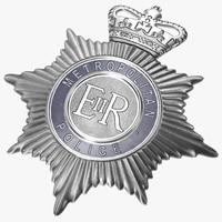 London Metropolitan Police Helmet Plate