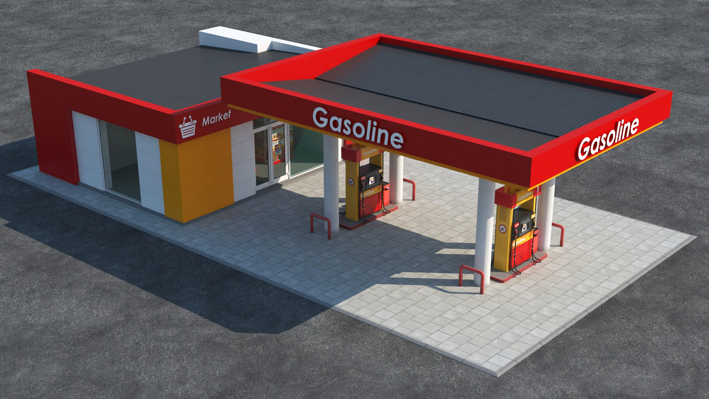 3d gas station