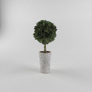 ornamental flowerpot 3d max