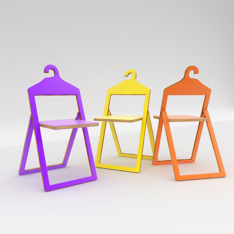 hanger chair philippe malouin 3d max