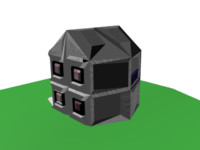 cottage home house 3d max