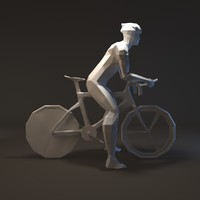 3ds max figure man bicycle flat