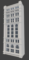 3d model tall cityscape building facade