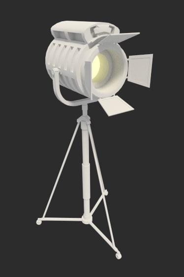 3ds max mobile spotlight light